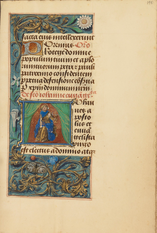 Initial J: Saint John the Evangelist