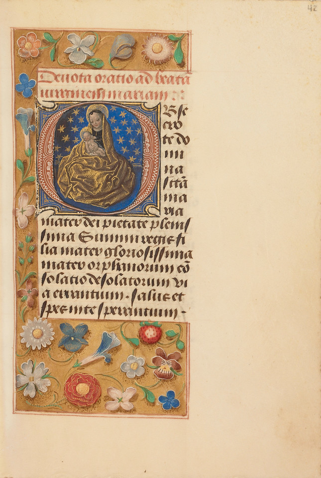Initial O: Madonna of Humility