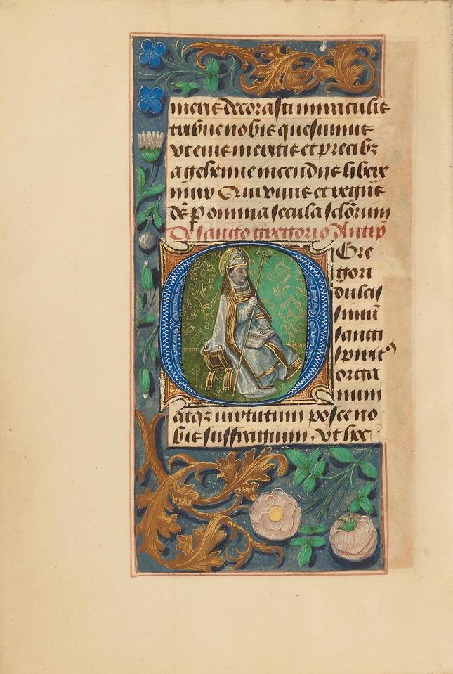 Initial O: Saint Gregory