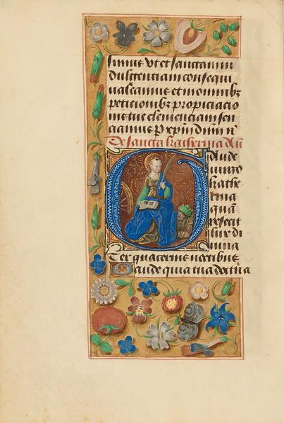 Initial G: Saint Catherine