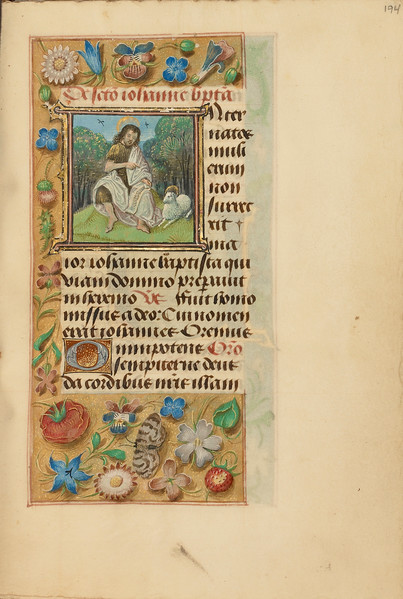 Initial I: Saint John the Baptist in the Wilderness
