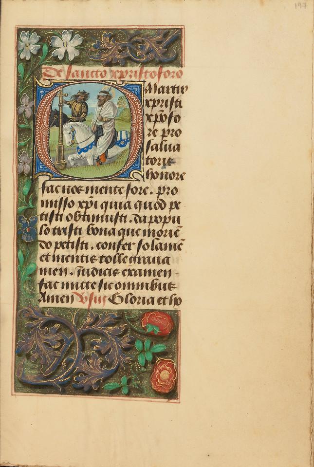 Initial O: Saint Christopher