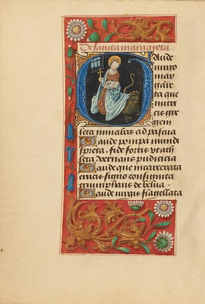 Initial G: Saint Margaret