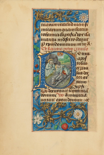 Initial P: Saint Peter and the Conversion of Saint Paul