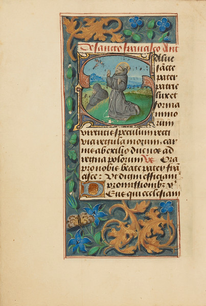 Initial S: The Stigmatization of Saint Francis