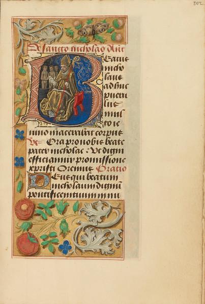 Initial B: Saint Nicholas
