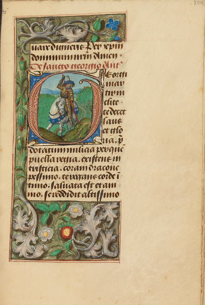 Initial G: Saint George and the Dragon