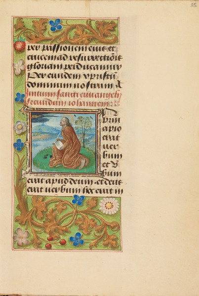 Initial I: Saint John on Patmos