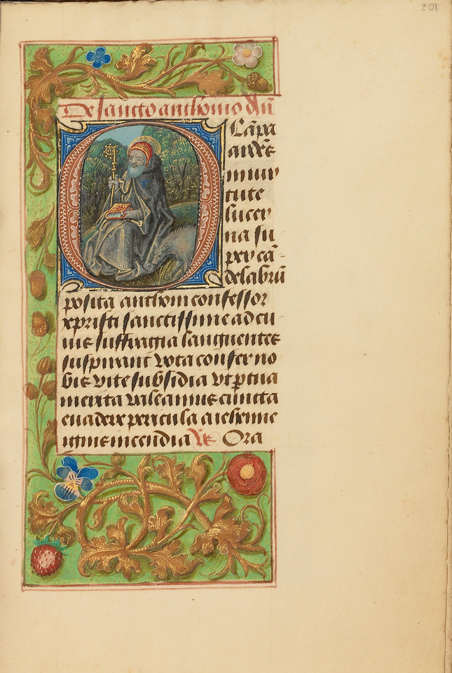 Initial O: Saint Anthony Abbot