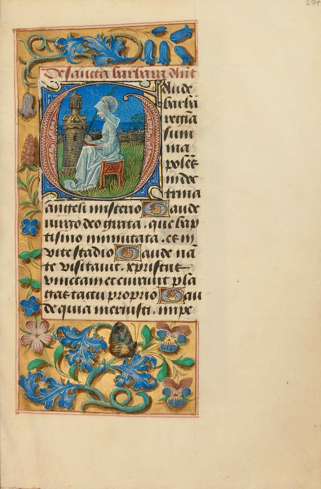 Initial G: Saint Barbara