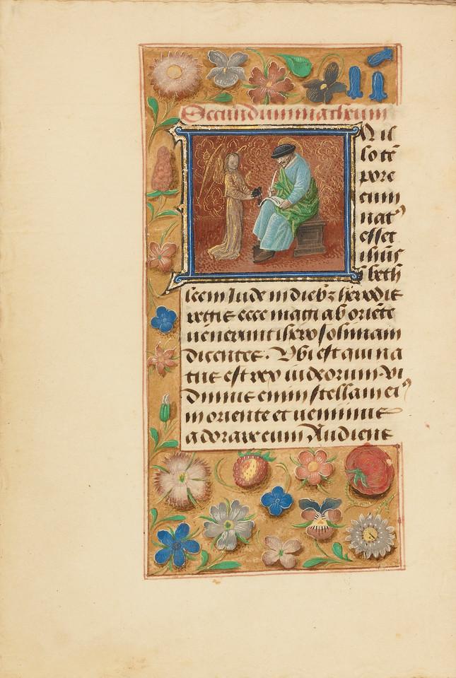 Initial I: Saint Matthew