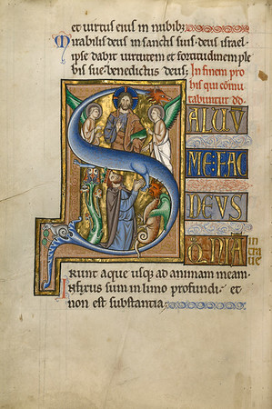 Initial S: David in Prayer