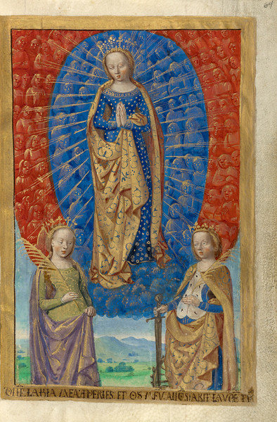 Virgin in Cloud of Angels, with Saints Barbara and Catherine