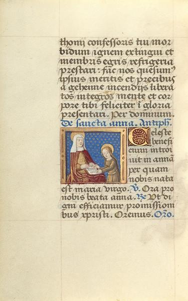Anna Teaching the Virgin Reading