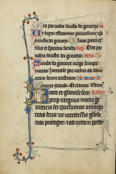 Initial B: A Deacon Carrying a Book