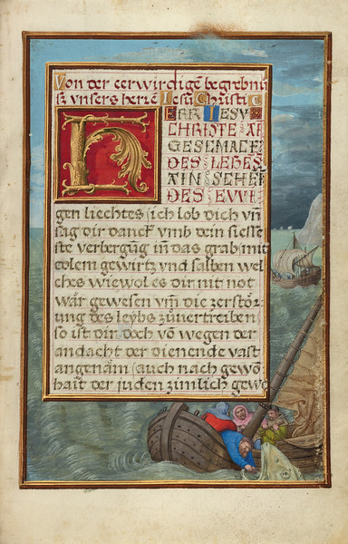 Border with Jonah Cast into the Sea