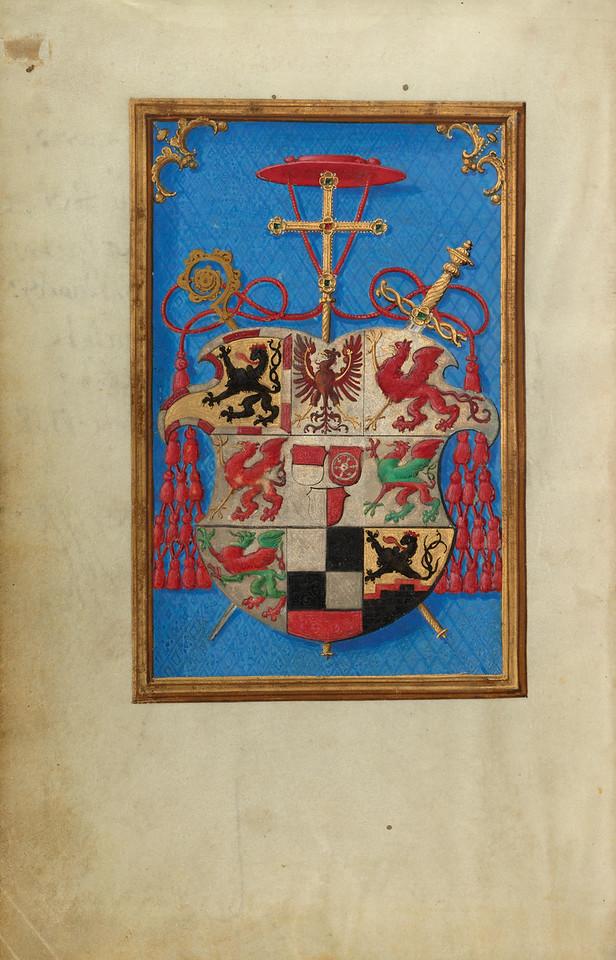 Blazon of Cardinal Albrecht von Brandenburg