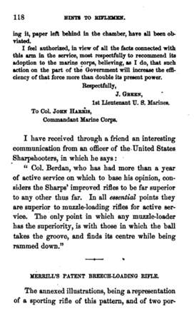 Hints to riflemen_by H  W  S  Cleveland  Cleveland, Horace William Shaler,1864 p 118