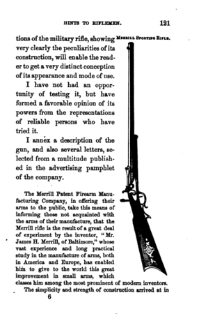 Hints to riflemen_by H  W  S  Cleveland  Cleveland, Horace William Shaler,1864 p 121