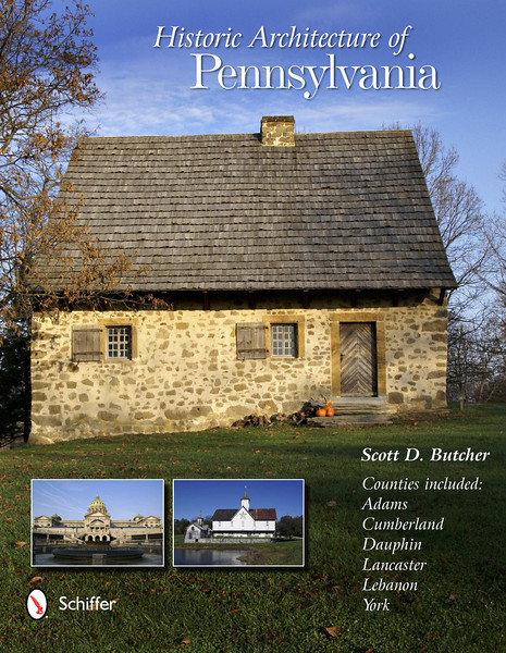 """Nestled among the rolling hills of South Central Pennsylvania, six counties – Adams, Cumberland, Dauphin, Lancaster, Lebanon, and York – are home to more than three centuries of history and architecture. Beginning with early eighteenth century buildings, almost every style of American architecture is featured in the region's mid-sized cities, charming towns, and quaint villages. Susquehanna Valley buildings showcase excellent examples of Colonial, Early Republic, Victorian, and twentieth-century architectural movements. Featured are educational narratives of three dozen styles as well as special sections on a variety of building types, including farmers' markets and train stations, all brought to life by more than 180 full-color photos. Join author and photographer Scott D. Butcher on an enlightening tour featuring the best of American architecture as seen through the eyes of the region's architects and builders.<br /> <br /> Order: <a href=""""http://www.schifferbooks.com/newschiffer/book_template.php?isbn=9780764342752"""">http://www.schifferbooks.com/newschiffer/book_template.php?isbn=9780764342752</a>"""