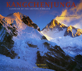 Kangchenjunga Guardian of the Eastern Himalaya  (2007) 208 pages Hardcover $40.00  Photographer Tim Hauf and writer Conger Beasley Jr. blend their superb talents to capture this legendary mountain and the remote terrain of the eastern Himalaya -- Tim with his astounding photos of the face and texture of the mountains, Conger with his insightful text showcasing the people, history, flora, and fauna.