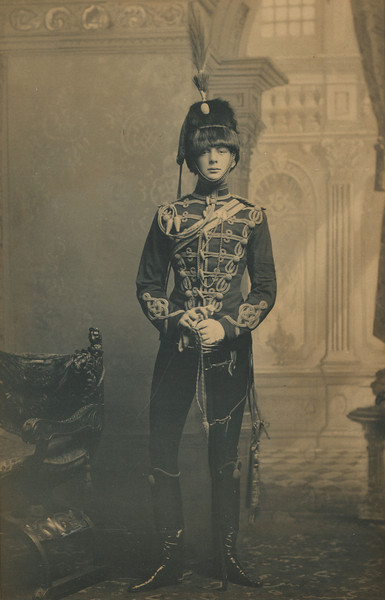 Churchill as a young officer, c1895<br /> Churchill Additional Papers, WCHL 4/41<br /> Courtesy of the Churchill Family<br /> The early death of Churchill's father, and the sudden need to make a name and an income, led him to pick up his pen while serving as an officer in the British army.