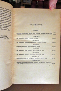 Sample Contents page December 20, 1860 to May 9, 1861