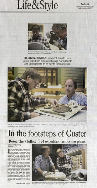 Nov. 30, 2008 Rapid City (S.D.) Journal story about the project (continues in next frame).