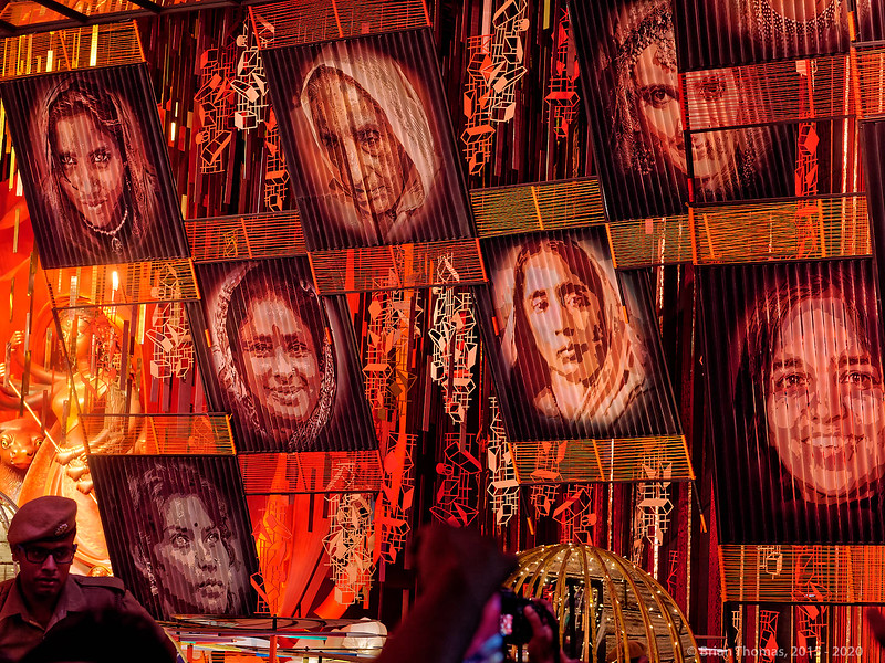 """This """"empowering women"""" pandal was featured in the book because it didn't need any artist's statement. It is my pick for the best pandal messaging,"""