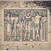 Burne-Jones, Edward Coley, 1833-1898   Illustrations for the Kelmscott Chaucer/  1894-1895.  Burne-Jones touched platinotypes,  PML 76853,  Plate 36