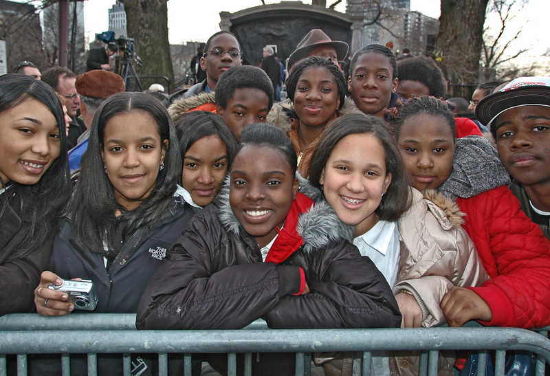 School Children, Inauguration Day, Boston, MA 2007
