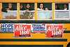 Alice Wolf Campaign Bus, Cambridge, MA 2004