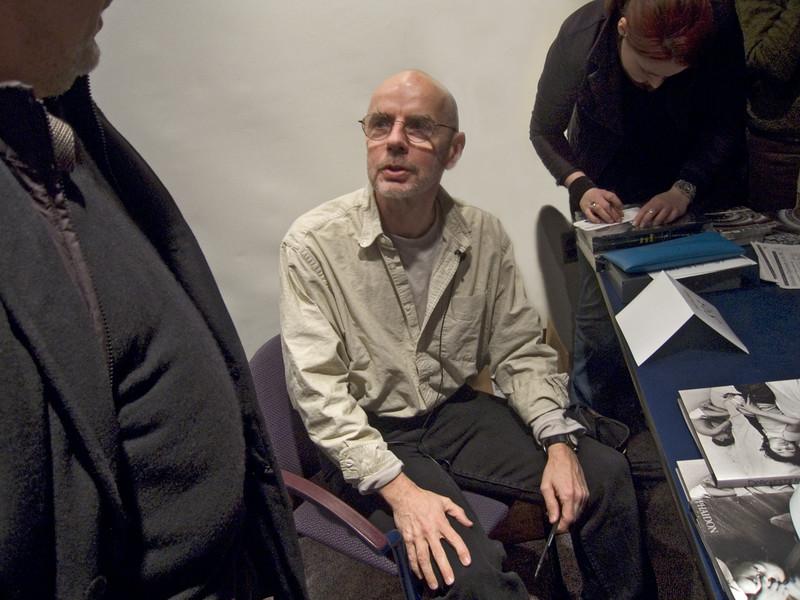 Eugene Richards, Photographer, at Book Signing, Boston, MA 2005