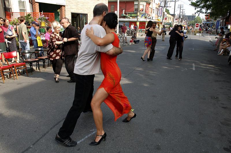 Street Dancing, Tango Competition, Kensington Market, Toronto, Canada 2004