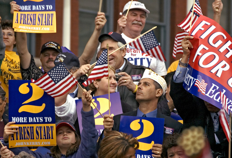 Political Rally, Manchester, NH 2004