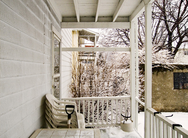 New Snow, Old Porch, Belmont, MA 2005