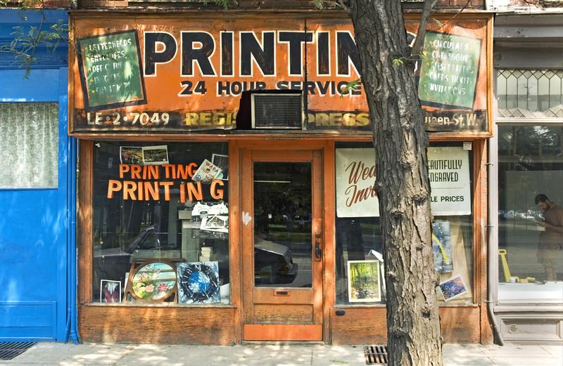 Print Shop, Queen Street, Toronto, Canada 2004