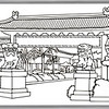 P. 22 Art<br /> Little Saigon, Garden Grove<br /> Orange County's Colorful Past Coloring Book<br /> Commissioned by the Orange County Archives<br /> By Laura Hoffman<br /> <br /> Used by permission from the Orange County Archives