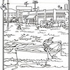 P. 14 Art<br /> Flood of 1938<br /> Orange County's Colorful Past Coloring Book<br /> Commissioned by the Orange County Archives<br /> By Laura Hoffman<br /> <br /> Used by permission from the Orange County Archives
