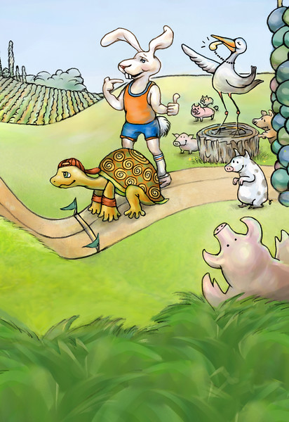 The Tortoise and The Hare, Illustration