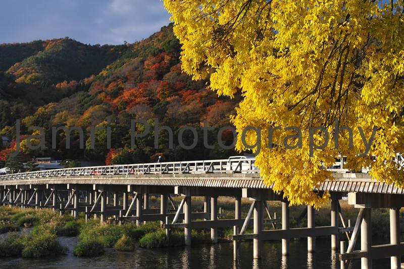 "November - Autumn Colour at Togetsu-kyo.<br /> Togetsu-kyo means ""Moon Crossing Bridge"". It's a very famous bridge in Arashiyama, Kyoto."
