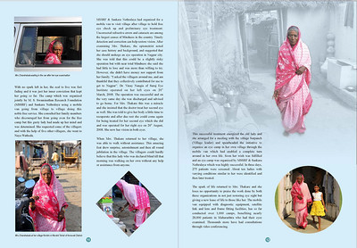 """""""Transformative Impact of ICT - Change stories from rural India"""" is a MSSRF (M S Swaminathan Research Foundation) book by Arundhathi, Suchit Nanda and Subbiah Arunachalam.   More details can be found at:  http://www.mssrf.org/  and  http://www.mssrf-nva.org/"""