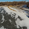Stepping Stone Falls Clear Winter Day Aerial Photography 11