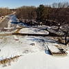 Stepping Stone Falls Clear Winter Day Aerial Photography 12