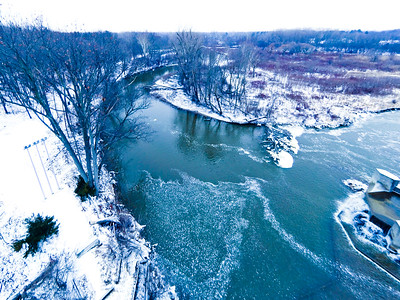 Stepping Stone Falls Soft Light Aerial Photography 19