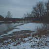 Soft Cloudy Day at Stepping Stone Falls in Flint Michigan Photograph 49