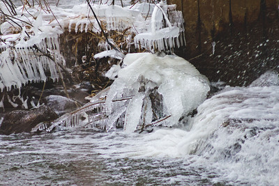 Soft Cloudy Day at Stepping Stone Falls in Flint Michigan Photograph 17