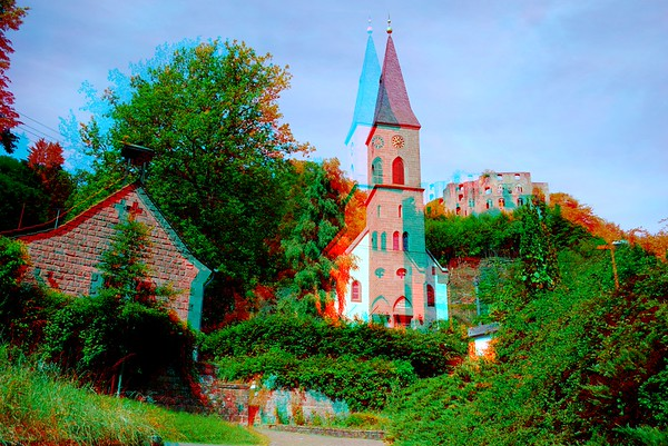 Churches in Anaglyph Stereo for Ebook