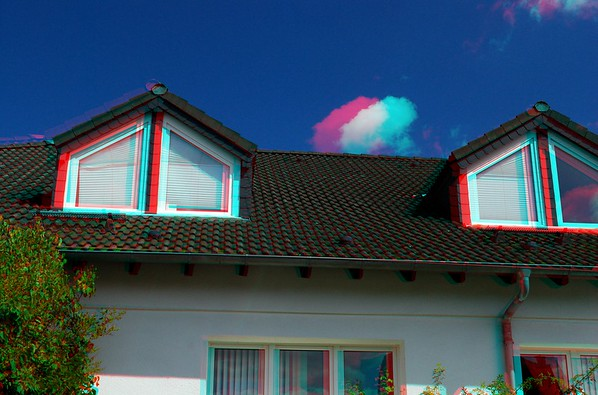 Faith Baptist Church in Anaglyph Stereo for Ebook