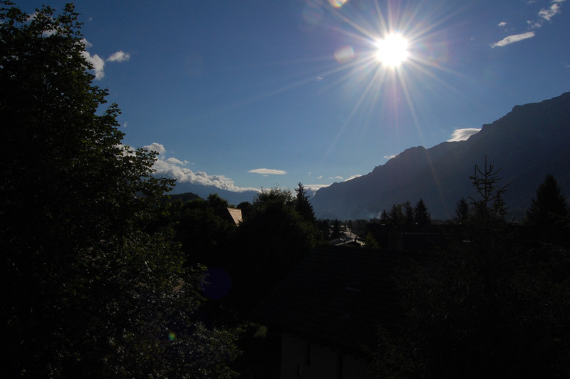 Sunrise over Interlaken Ost